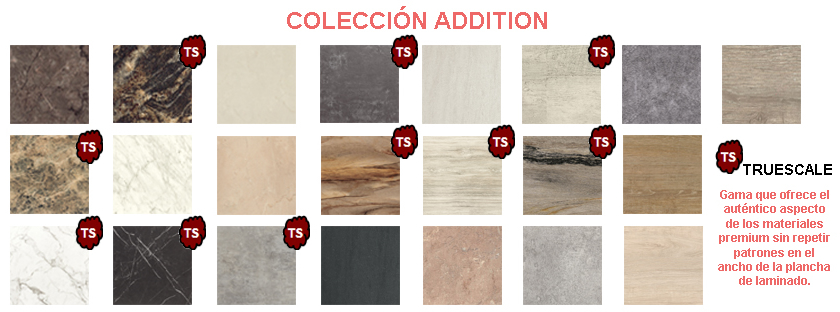 Collection for worktops known as ADDITION